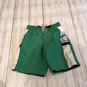 Gap boys green and navy bathing suit